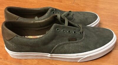 VANS ERA 59 Green Canvas C L Birds Grape Leaf IVY 12 721356 Fear Half Of Cab 1808e0f267