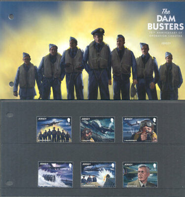 Jersey-The Dambusters World War II set & Presentation pack-2018 mnhWorld War II