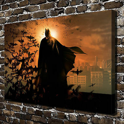 """12""""x20""""DC Batman Paintings HD Print on Canvas Home Decor Wall Art Picture Poster"""