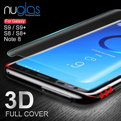 Galaxy S9 S8 Plus Note 9 8 NUGLAS Tempered Glass Full Screen Protector Samsung