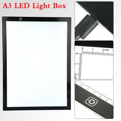 NEW! A3 LED Ultra Slim Art Craft Drawing Copy Tracing Tattoo Light Box Pad Board