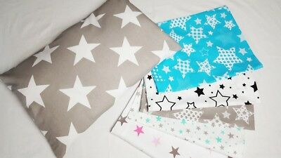 PILLOW CASE 100 % COTTON COVER 40x60 cm for COT JUNIOR BED SINGLE COT BED STARS