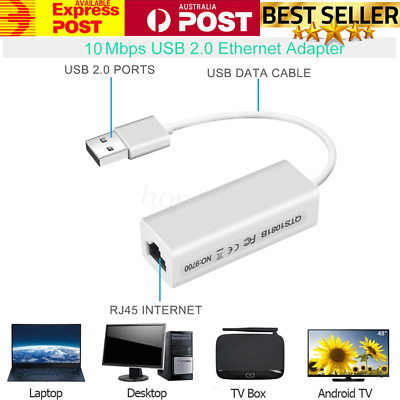 10/100Mbps USB 2.0 to Ethernet Adapter Network Card LAN RJ45 high quality