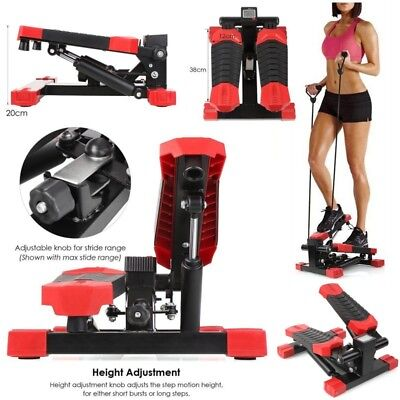 Exercise Stepper AEROBIC Fitness Stepper Ropes Workout Cord Arms Leg LCD display