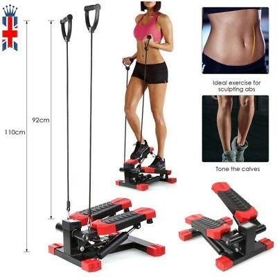 Multi Exercise Stepper AEROBIC Fitness Stepper Ropes Workout Cord Arms Leg NEW A