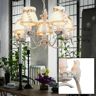 Country House Style LED Pendulum Light Birds Chandelier Hanging Lamp E27