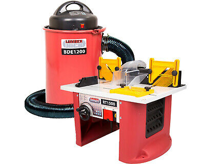 Lumberjack Bench Top Router Table with BDE1200 Dust Extractor 240V