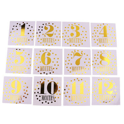 Baby Milestone Stickers Baby Monthly Stickers for Boys / Girls Months 1-12