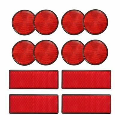 12 Muliti Purpose Red Light Reflectors Rear Trailer Reflector Disks Caravan M5O7