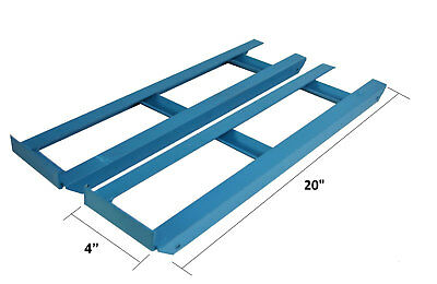 Pair Of Heavy Duty Car Ramp Extensions For Low Ground Cars Van Vehicle Clearance