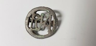 ROMAN MILITARY BROOCH WITH MONOGRAM 1st-3rd century AD