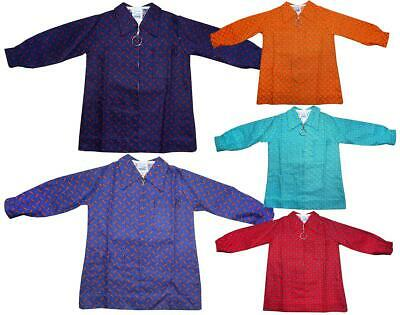 Girls Vintage Geometric Dash Zip Through Jacket Shirt Top 12 Months to 6 Years