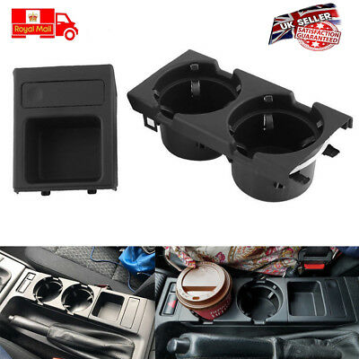 Black Cup Holder & Coin Drink Holder/ Storage / Tray For BMW E46 318 320 325 330