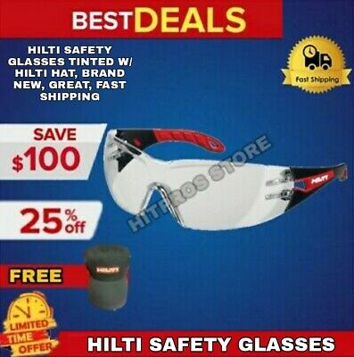 Hilti Safety Glasses Tinted W/ Hilti Extras, Brand New, Great, Fast Shipping