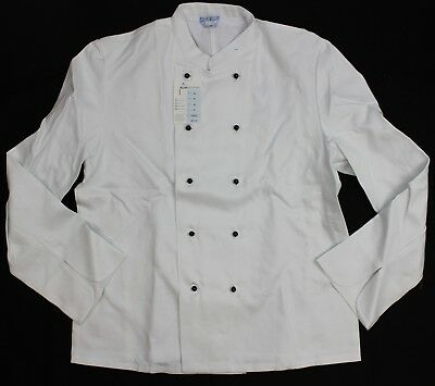 GERMAN ARMY CHEF CATERING JACKET with BUTTONS LONG SLEEVED 46'' CHEST (NO4)