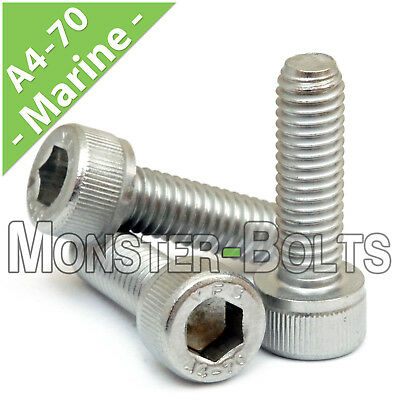 M6 - 1.00  Marine Grade Stainless Steel Socket Head Caps Screws A4 / 316 DIN 912