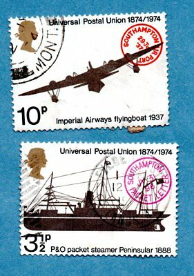 GB/UK stamps 1974 Centenary of Universal Postal Union SG954/57 (2 stamps)