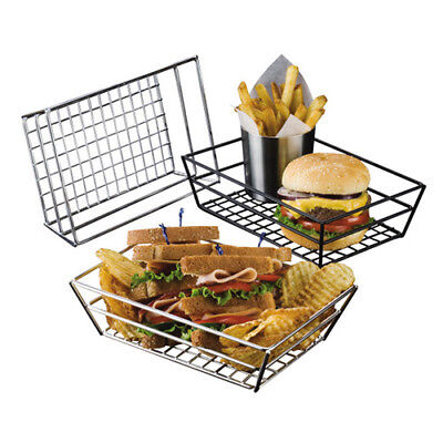 "Small Chrome Grid Basket - 9""Wx6""Dx2-1/2""H"