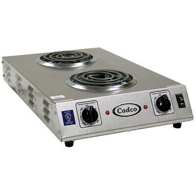 "Countertop Electric Range - (2) 6"" Burners, 1650 Watts"