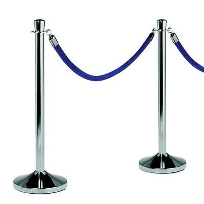 """Barrier System, Polished Chrome Post, 15""""Diam.x40""""H"""