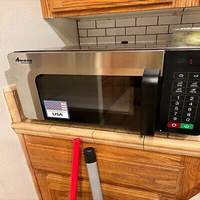 AMANA RMS10TS STAINLESS Steel Commercial Microwave Oven #2094 ...