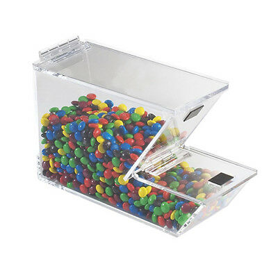 Ice Cream Toppings Bulk Bin - Acrylic with Magnetic Solid Lid