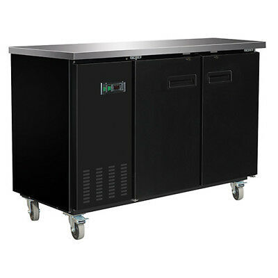 Central Exclusive 69K-103 Solid Door Back Bar Cooler, 2 Doors
