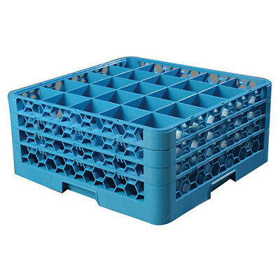 Opticlean Carlisle RG25-314 25 Compartment Glass Rack With 3 Extenders