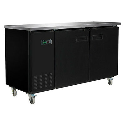 Central Exclusive 69K-104 Solid Door Back Bar Cooler, 2 Doors