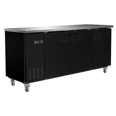 Central Exclusive 69K-105 Solid Door Back Bar Cooler, 3 Doors