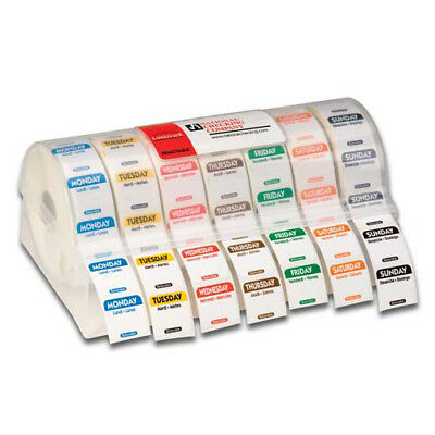Food Rotation Label Kit - 7-Day Labels, 7000 Labels Total