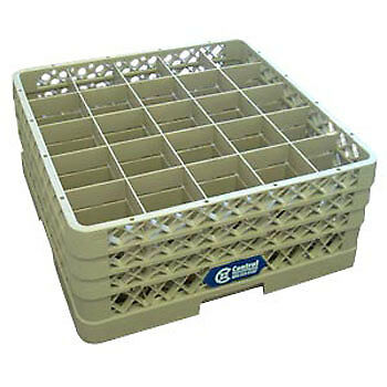 """Glass Rack - 25 Square Compartments, 8-3/4""""H (with extenders)"""