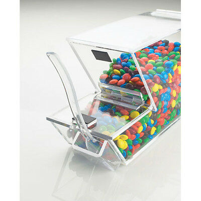 Ice Cream Toppings Bulk Bin - Acrylic w/Magnetic Lid and External Spoon Holder