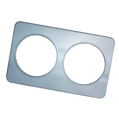 """Steam Table Adapter Plate Two 8 1/2""""Diam. Holes"""