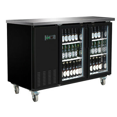 Central Exclusive 69K-106 Glass Door Back Bar Cooler, 2 Doors