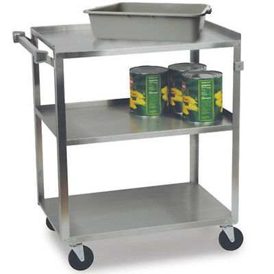 "Stainless Steel Utility Cart 500 lbs. Capacity, 19""Wx31""Dx32-1/8""H"