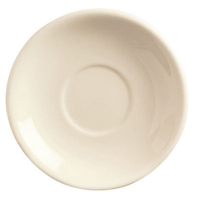 """Ivory Rolled Edge - 6"""" Saucer"""
