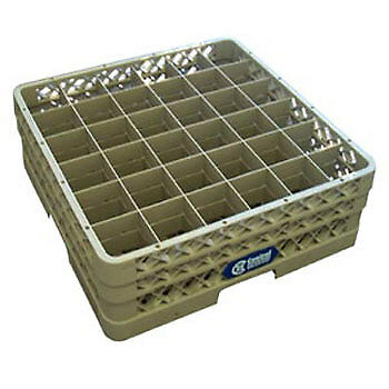 """Glass Rack - 36 Square Compartments, 7-1/8""""H (with extenders)"""