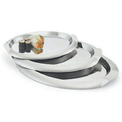 """Stainless Serving Tray 14-3/4""""Wx10-7/8""""D, Oval"""