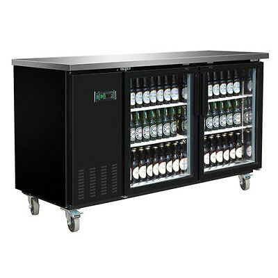 Central Exclusive 69K-107 Glass Door Back Bar Cooler, 2 Doors