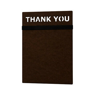Risch MDFCHECK5X9 MDF check presenter with thank you header & 1 black band