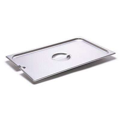 Full-Size Steam Table Slotted Cover For 24 Gauge Stainless Steel SteamTable Pans