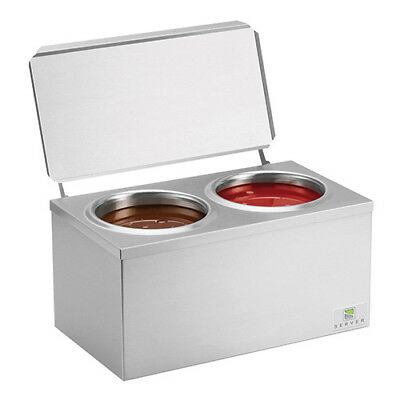 Heated Dip Server Warmer Two Wells