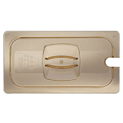 Cold Food Pan - Notched Hard Cover, Fourth-Size