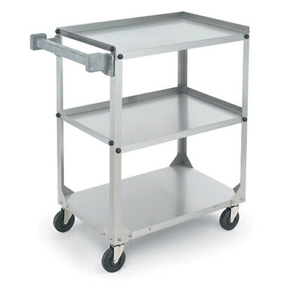 Stainless Steel Utility Cart - Medium Duty 300 lb. Capacity, Ships Knocked Down