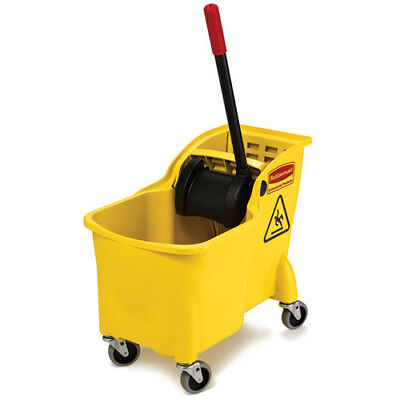Rubbermaid FG738000YEL 31 Qt. Compact Mop Bucket with Wringer, Yellow
