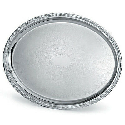 """Elegant Reflections Serving Tray, 21-3/4""""Wx16""""D Oval"""