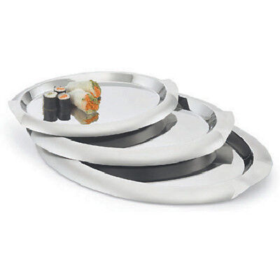 """Stainless Serving Tray 21-1/8""""Wx15-1/2""""D, Oval"""