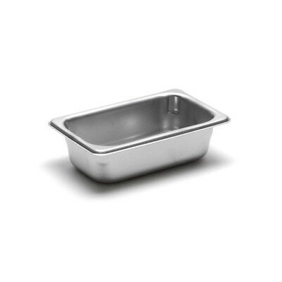 "22 Gauge Stainless Steel Steam Table Pan, Ninth-Size, 2-1/2"" Deep"