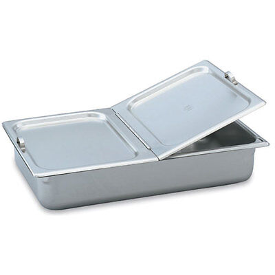 Full-Size Steam Table Pan Cover, Hinged Flat